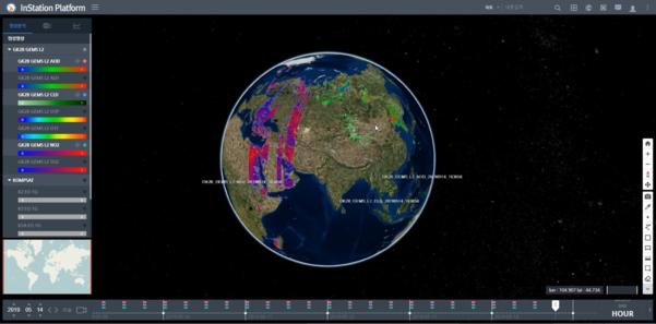 한컴인스페이스의 위성 영상 처리·분석 플랫폼 인스테이션. /한글과컴퓨터 그룹