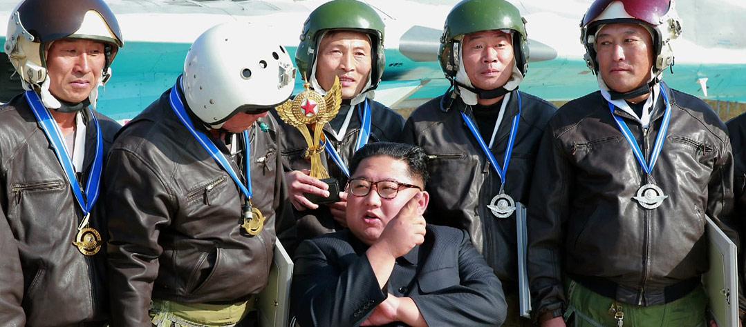 김정은, 2년 만에 '비행훈련' 참관…한미공중훈련 '맞대응'