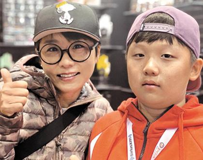수퍼땅콩 김미현 '골퍼 꿈꾸는 아들 코치 됐어요'